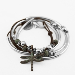 Andie Gloss Chocolate Medium Bracelet by Lizzy James
