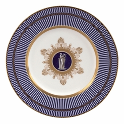 Anthemion Blue Accent Salad Plate by Wedgwood & Bentley - Special Order