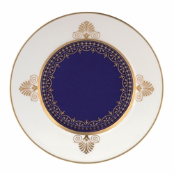 Anthemion Blue Bread & Butter Plate by Wedgwood & Bentley - Special Order