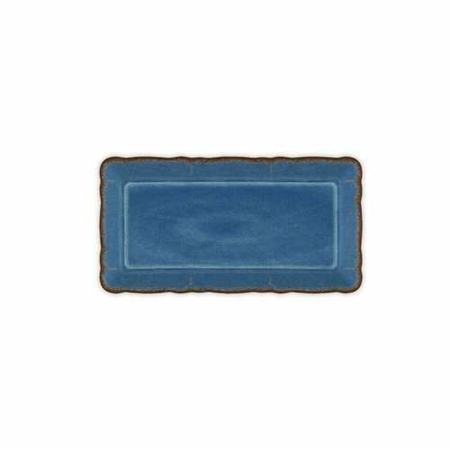 Antiqua Blue Biscuit Tray by Le Cadeaux