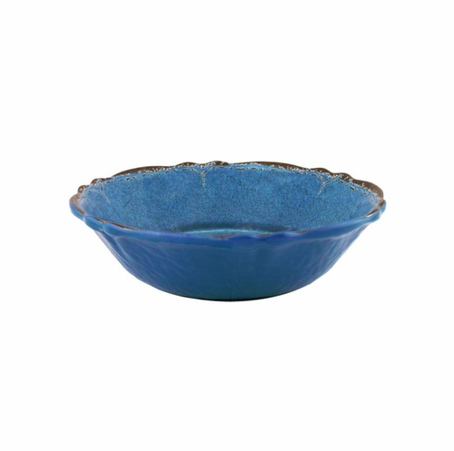 Antiqua Blue Cereal Bowl by Le Cadeaux