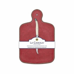 Antiqua Red Cheese Board With Knife by Le Cadeaux