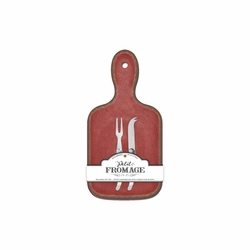 Antiqua Red Single Serve Cheeseboard by Le Cadeaux - Special Order