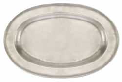 Antique Large Oval Platter by Match Pewter