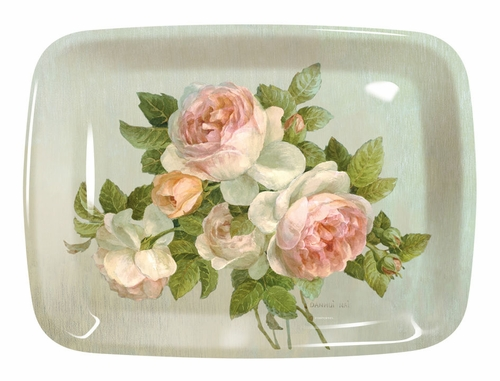 Antique Roses Large Melamine Tray by Pimpernel