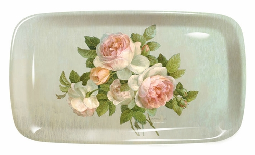 Antique Roses Sandwich Tray by Pimpernel