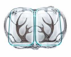 Antler 2 Quart Double Pyrex Holder by Arthur Court