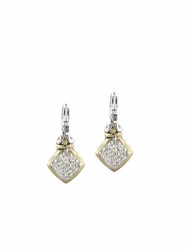 Anvil Square Pave French Wire Earrings by John Medeiros - Gift with Purchase