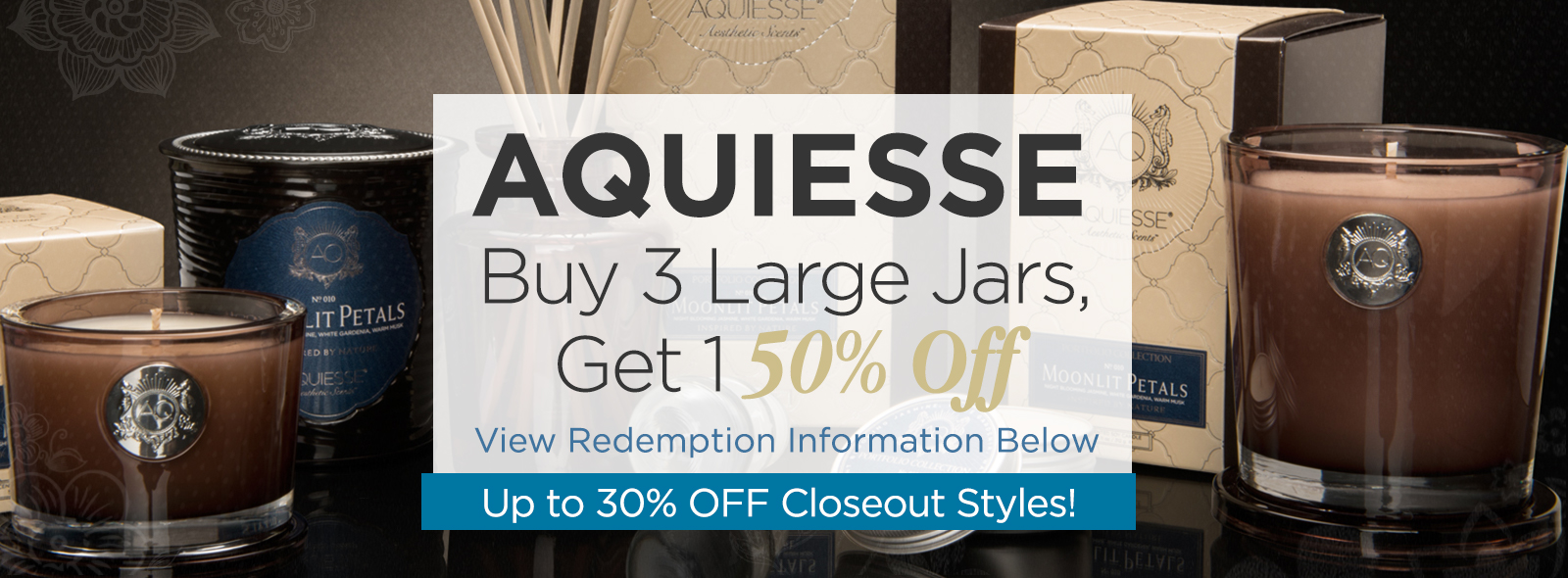 Aquiesse Candle Closeouts