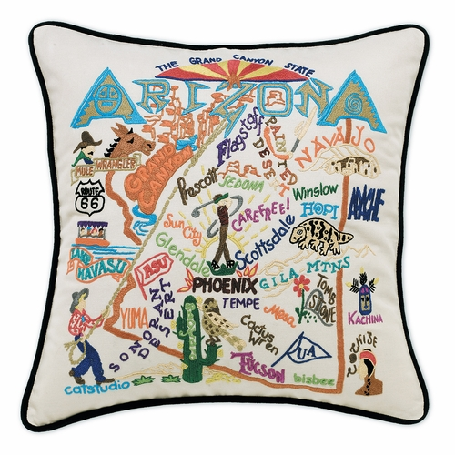 Arizona XL Hand-Embroidered Pillow by Catstudio (Special Order)