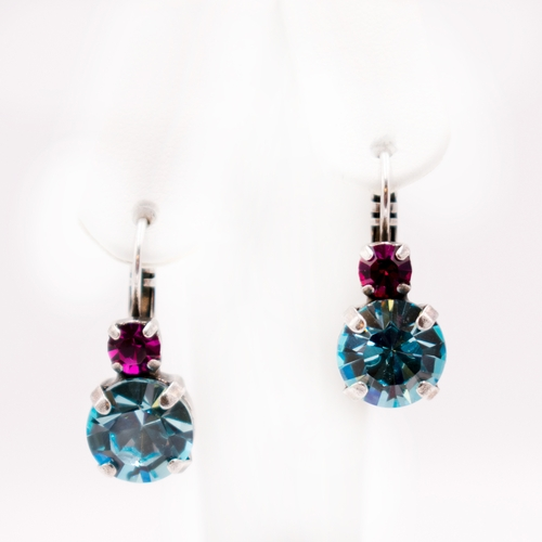 Audrey Rose and Aquamarine Earrings by Mariana Jewelry