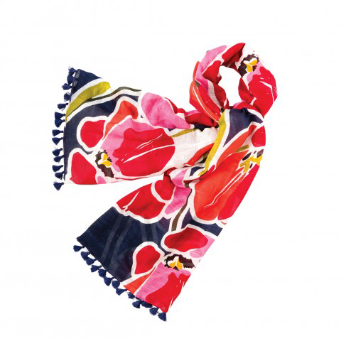 Tulip Viscose Linen Blend Scarf by Spartina 449