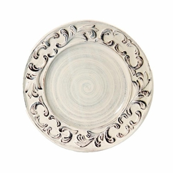 "(B) Baroque Cream Dinner Plate 11"" - Set of 4 - Intrada Italy (Limited Quantities)"