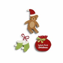 Baby's First Christmas Magnets- Set of 3 Assorted - Embellish Your Story