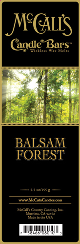 Balsam Forest McCall's Candle Bar