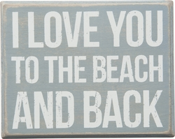 Beach and Back Box Sign - Primitives by Kathy