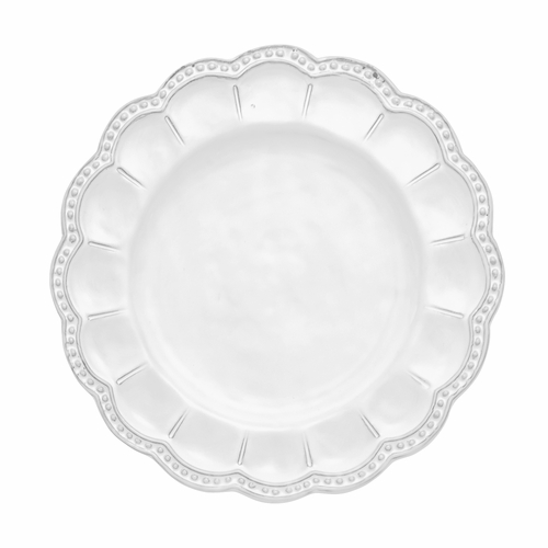 Bella Bianca Beaded Salad Plate - Arte Italica - (Available December)
