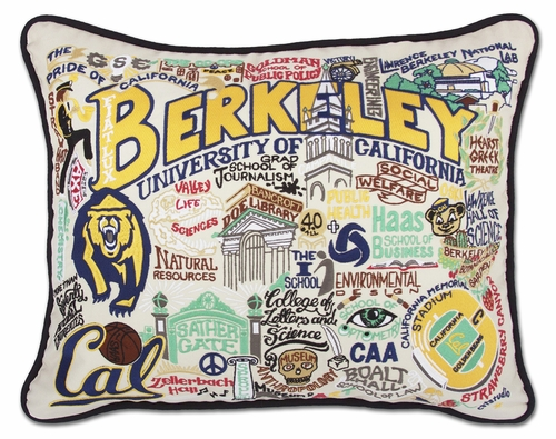 Berkeley, University of California XL Embroidered Pillow by Catstudio (Special Order)