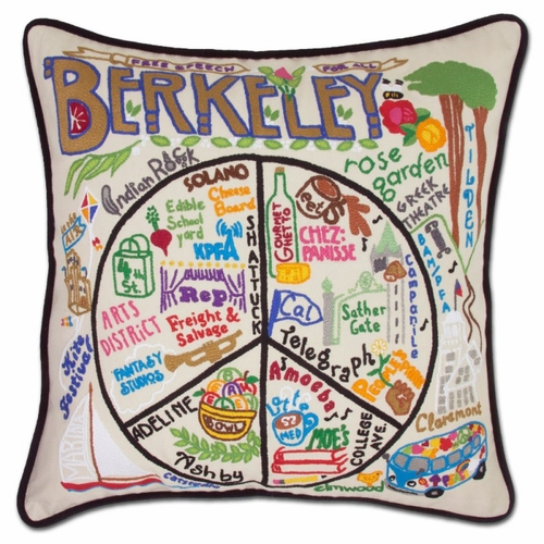 Berkeley XL Hand-Embroidered Pillow by Catstudio (Special Order)