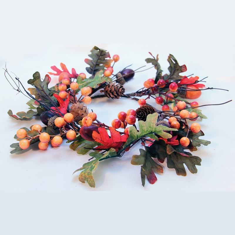 Berry Amp Acorn Amp Amp Pinecone Fall Candle Ring By A Cheerful Giver