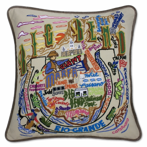 Big Bend XL Hand-Embroidered Pillow by Catstudio (Special Order)