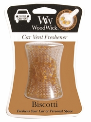 Biscotti WoodWick Car Vent Freshener | Discontinued & Seasonal WoodWick Items!