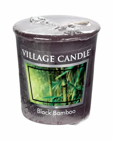 Black Bamboo Votive by Village Candles