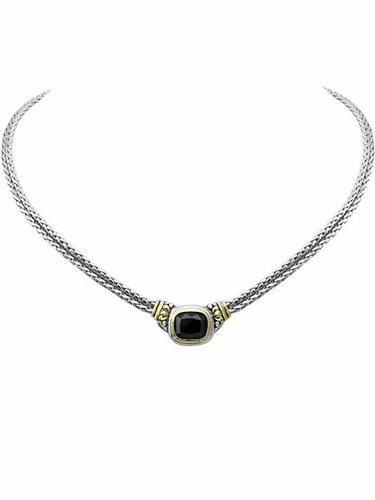 Black Double Strand Necklace by John Medeiros