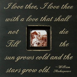 Black I Love Thee, I Love Thee Photobox by Sugarboo Designs