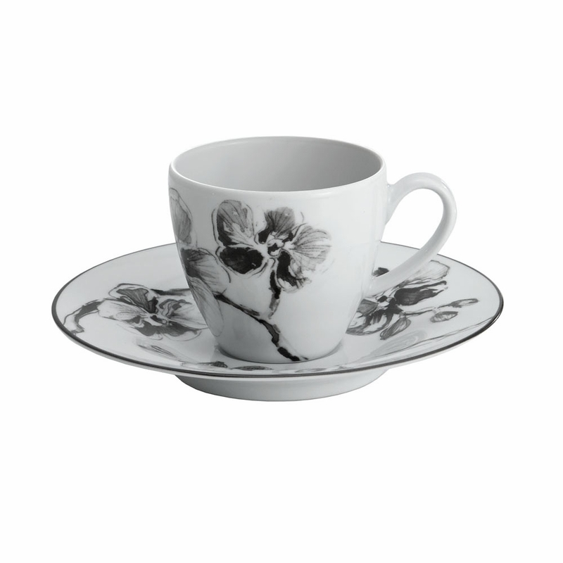 sc 1 st  The L& Stand & Black Orchid Demitasse/Espresso Cup u0026 Saucer (Set of 6) by Michael Aram