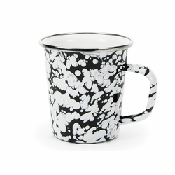 Black Swirl 16 oz. Latte Mug by Golden Rabbit