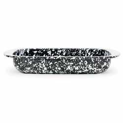 Black Swirl Baking Pan by Golden Rabbit