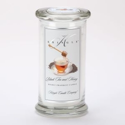 Black Tea & Honey Large Apothecary Jar Kringle Candle | Large Apothecary Jar Kringle Candles