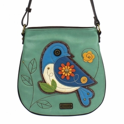 Blue Bird Crossbody Bag - Teal