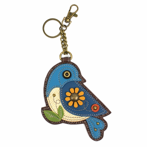 Blue Bird Key Fob/Coin Purse