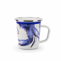Blue Crab 16 oz. Latte Mug by Golden Rabbit
