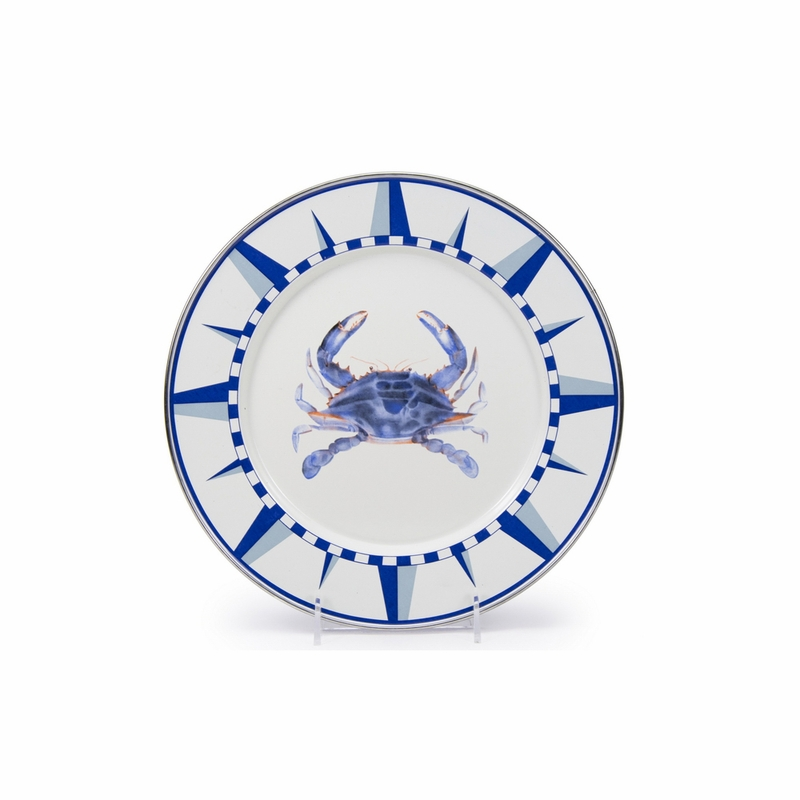 sc 1 st  The L& Stand & Blue Crab Dinner Plate by Golden Rabbit