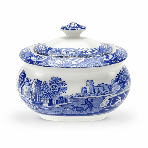 Blue Italian Covered Sugar Bowl by Spode