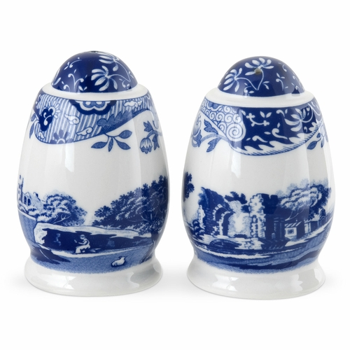 Blue Italian Salt And Pepper Shakers by Spode