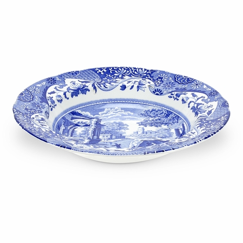 Blue Italian Set of 4 Soup Plates by Spode
