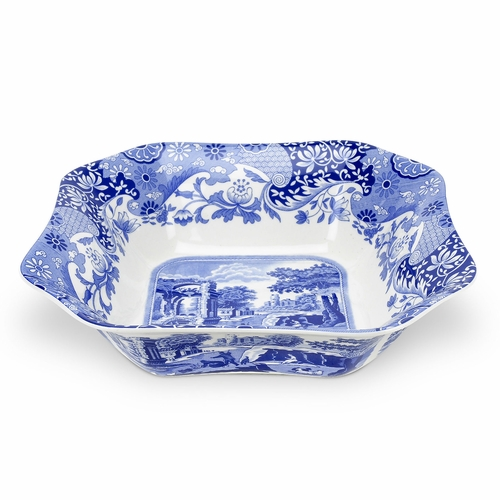 Blue Italian Square Serving Bowl by Spode