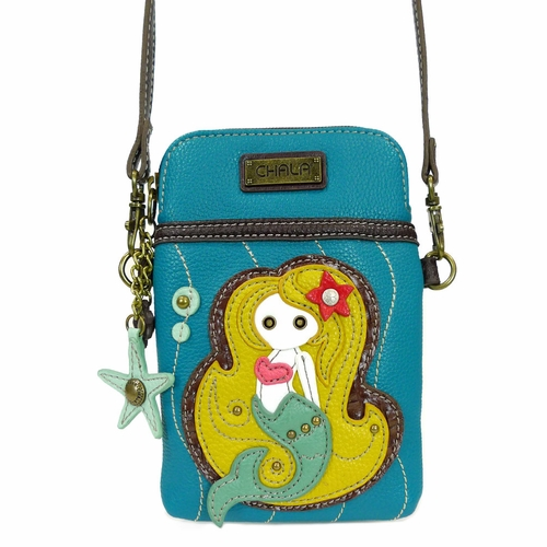 Blue Mermaid Cell Phone Crossbody