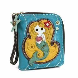 Blue Mermaid Zip-Around Wallet