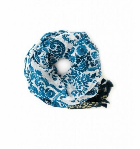 Blue Paisley Whitaker Scarf by Spartina 449