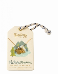 Blue Ridge Mountains Gold Charm Necklace - Oh So Witty by Spartina 449