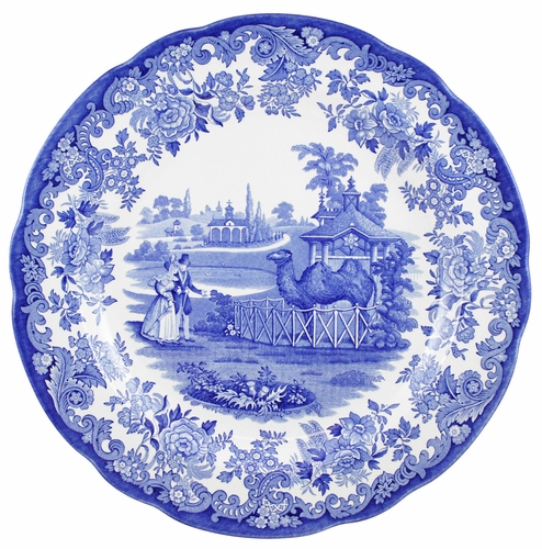 Blue Room Set of 6 Zoological Plates by Spode