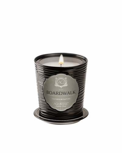 Boardwalk Portfolio Tin Candle with Matchbook by Aquiesse