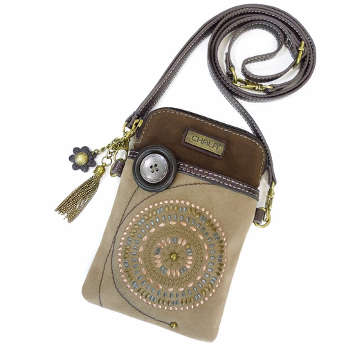 Bohemian Brown Cell Phone Crossbody