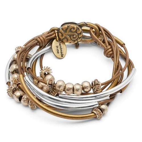 Boho Metallic Bronze Medium Bracelet by Lizzy James