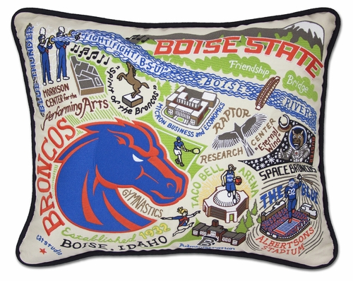 Boise State University XL Embroidered Pillow by Catstudio (Special Order)